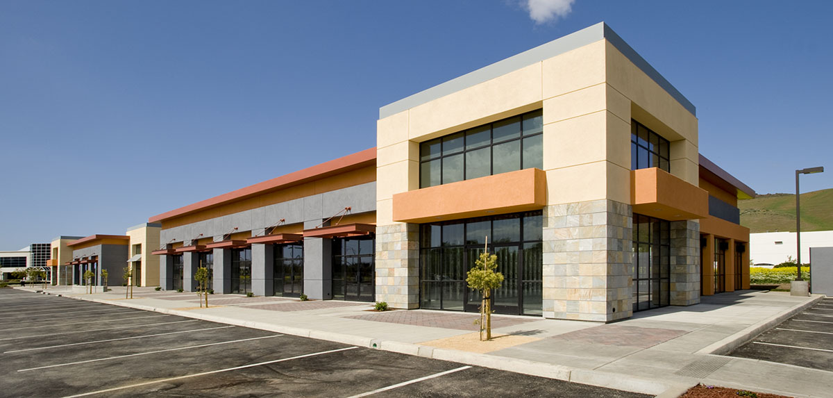 A commercial building financed by CMBS loans