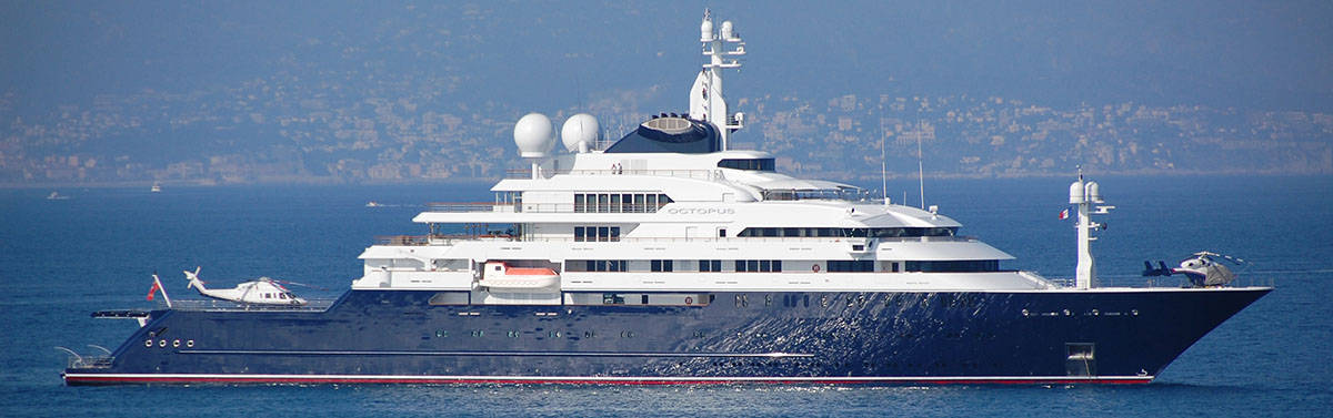 A super yacht with two helicopters and a multi-million dollar super yacht mortgage