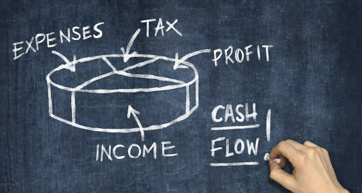 A banker uses the net income formula to calculate his monthly net income