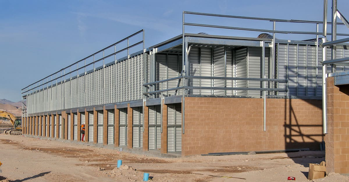 Building Storage Units Ground Up Construction