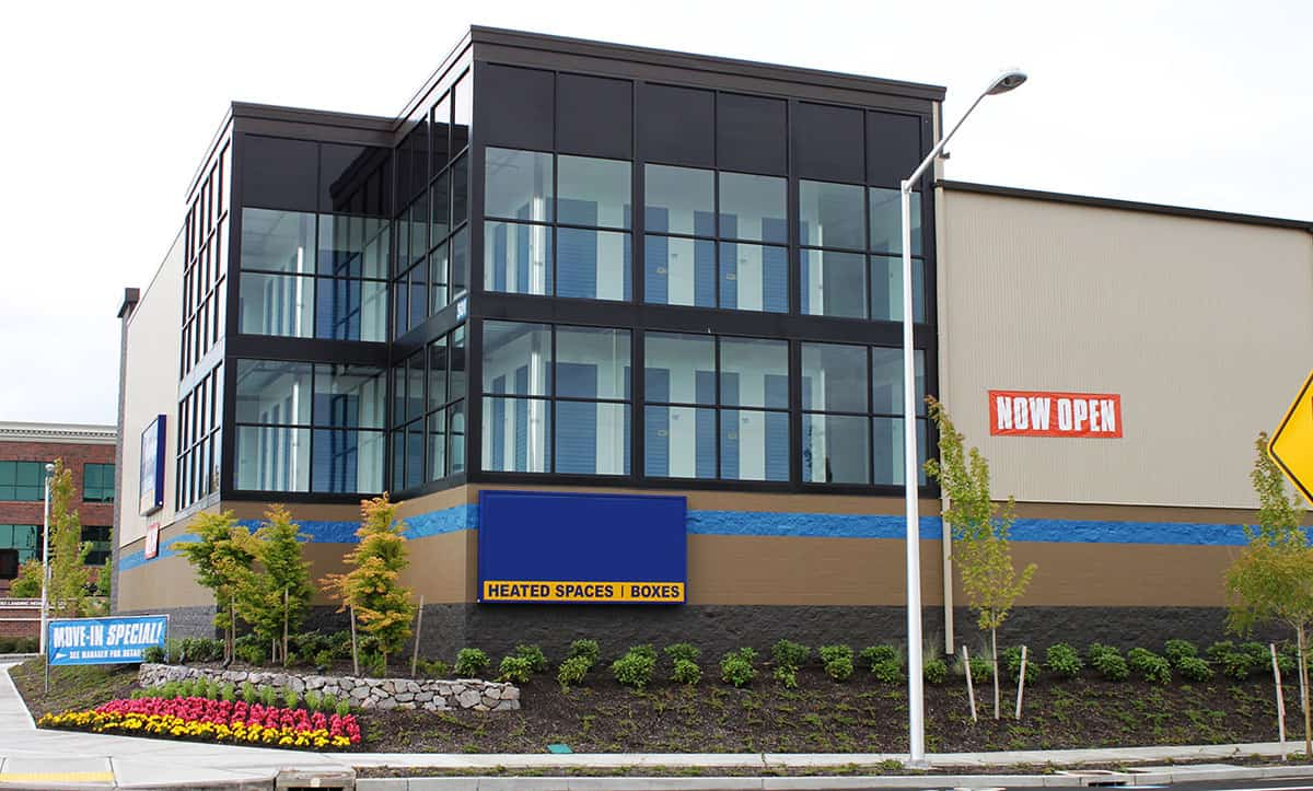 Exterior of multi-story commercial storage units