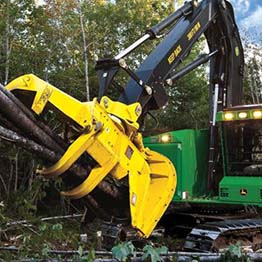 Large commercial logging machinery financed by commercial equipment leasing