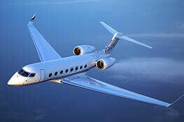 A corporate jet plane with excellent aircraft financing rates